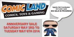Comic Land Anniversary Sale May 3rd 2014